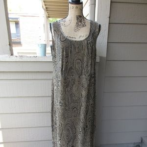 Gold & black Connected Women 20W maxi dress 1108